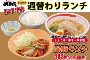 ●10/8~10/14●週替わりメニュー【酢豚】